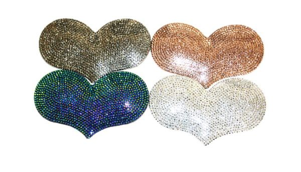 Acrylic bling heart flat back
